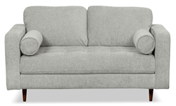 Zuri collection grey loveseat