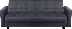 Grey sofa bed and futon