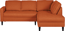 Orange sectional
