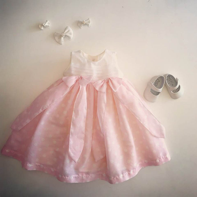 Special Occasion Baby Girl Dress Pink Cotton Batiste