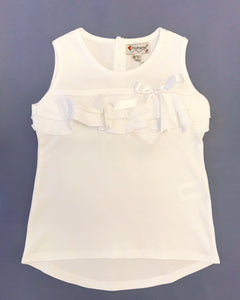Prado Collection Girl Tunic White