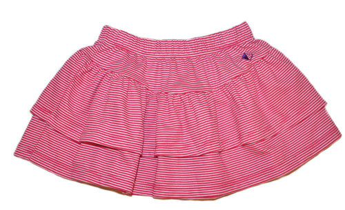 Petalos Collection Stripe Skirt Fushia
