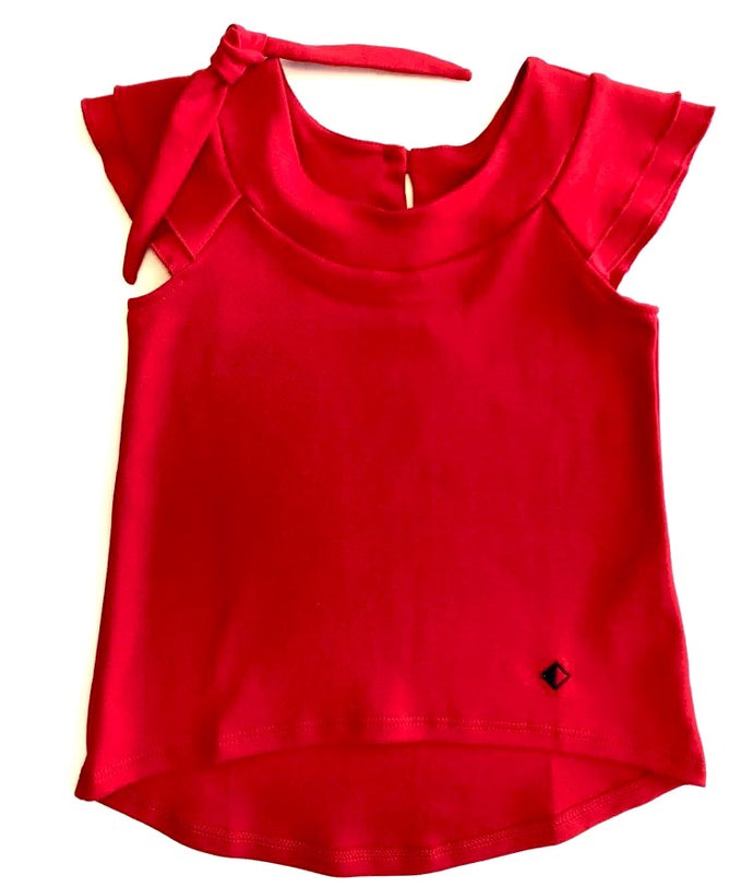 Roses Collection Girl Gamuza Tunic Red