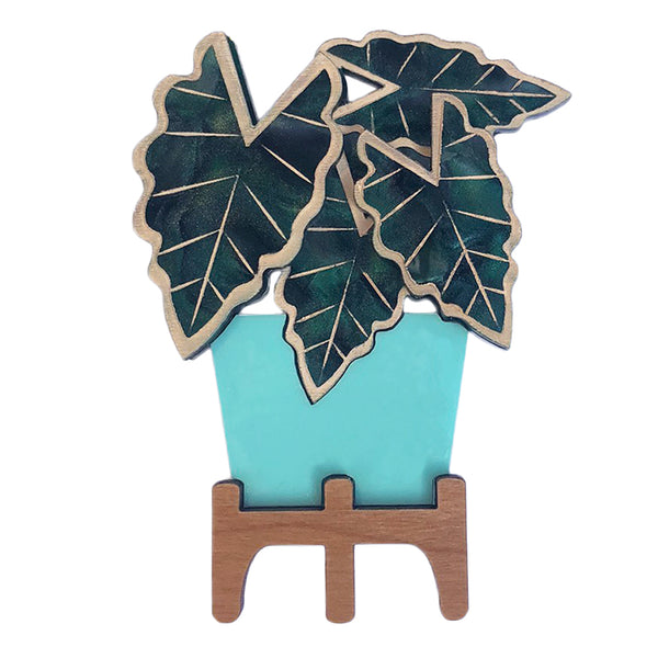 OH HELLO ALOCASIA BROOCH MINT LAST CHANCE