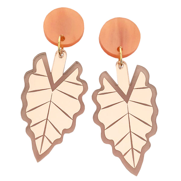 HELLO ALOCASIA PINK EARRINGS