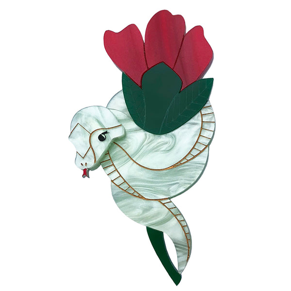 SNAKEY BOUQUET BROOCH