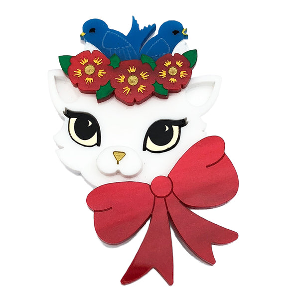 FANCY NANCY CAT BROOCH