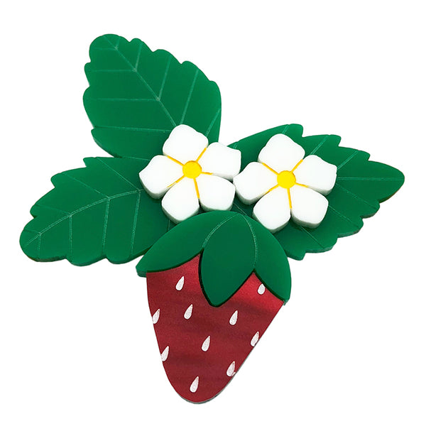 STRAWBERRY BLOSSOM BROOCH