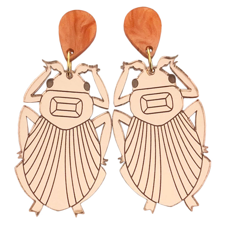 BIG GLAMOUR BUG ROSE GOLD EARRINGS