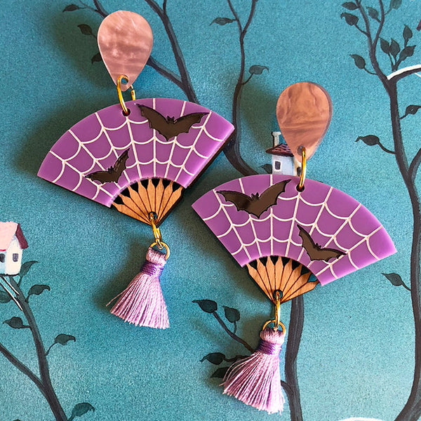 BATTY FRANCINE EARRINGS MAUVE