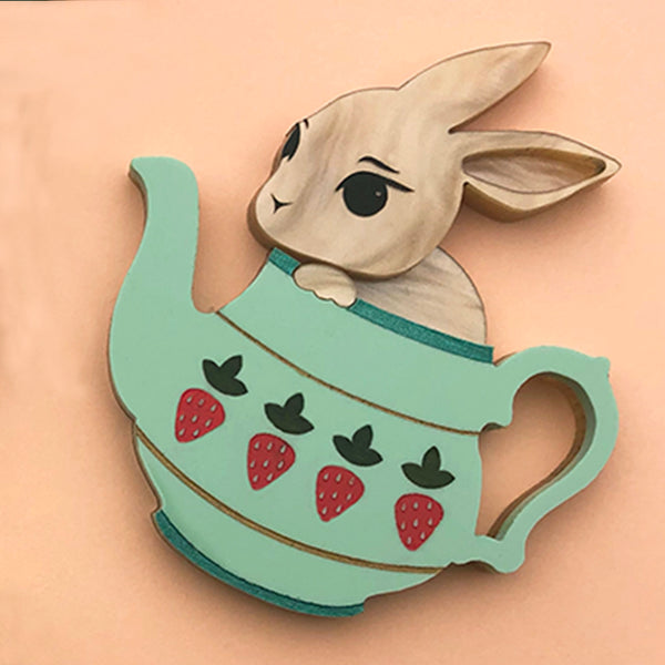 BUNNY POT POPPY BROOCH SPEARMINT