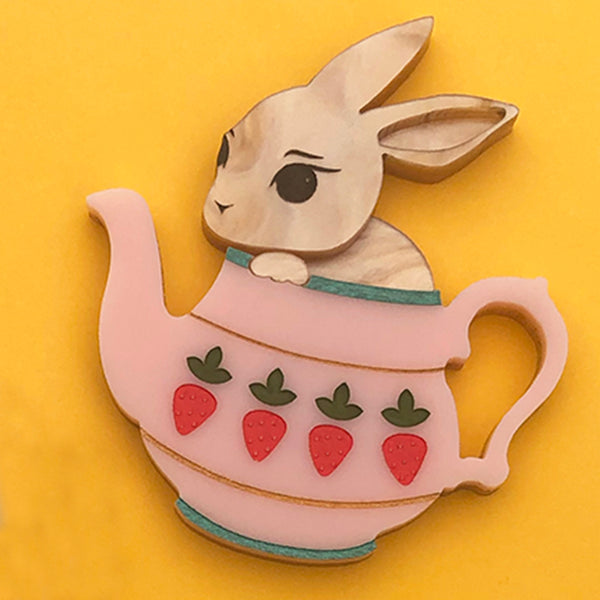 BUNNY POT POPPY BROOCH PINK