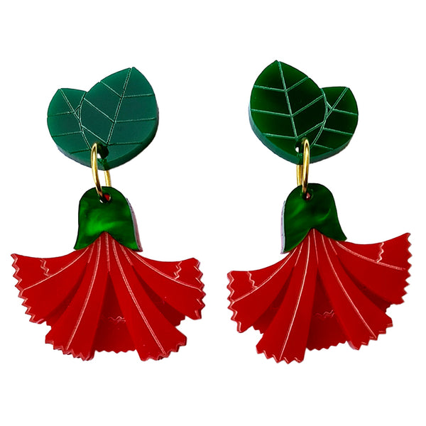 MISS CARNATION ROUGE EARRINGS