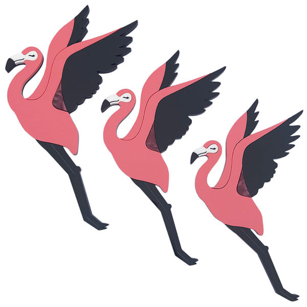 FLYING FLAMINGOS WALL ART
