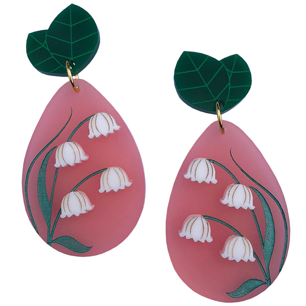 PRE ORDER BLUSHING LILY OF THE VALLEY EARRINGS