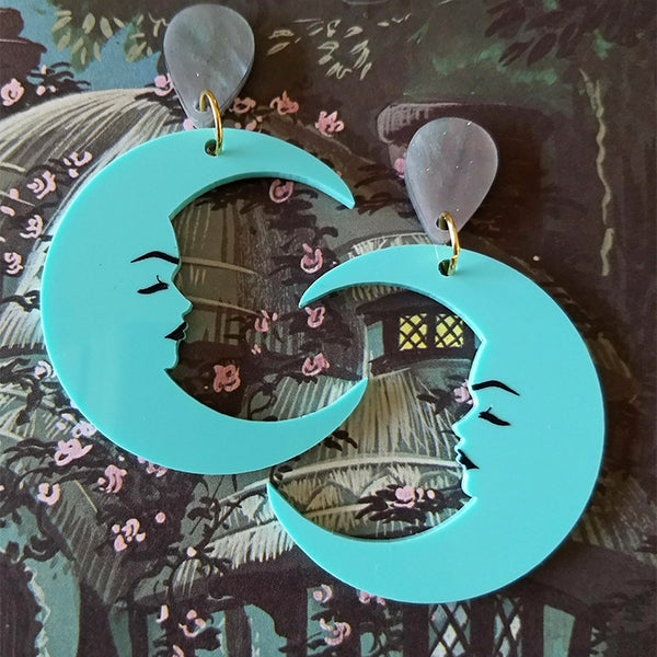 MARVELOUS MAVIS MOON EARRINGS MINT