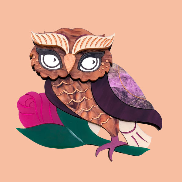 NORA NIGHT OWL BROOCH