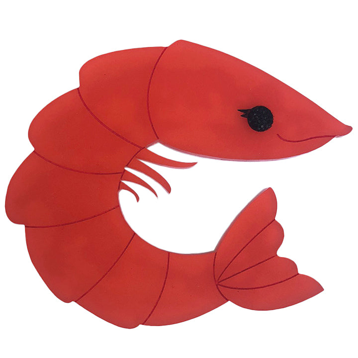 PERKY PRAWN PAM BROOCH WATERMELON