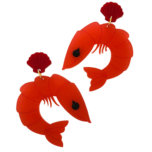 PERKY PRAWN PAM EARRINGS