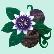PRE ORDER PASSION FLOWER POWER BROOCH