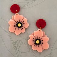 PEONY ROSE EARRINGS