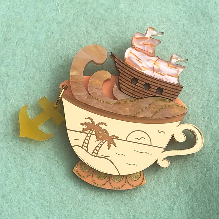 SUNRISE STORM IN A TEACUP BROOCH