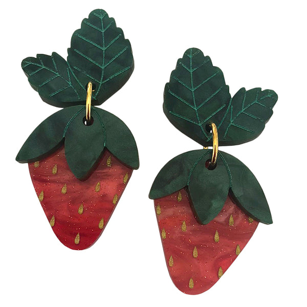 STRAWBERRY BLOSSOM EARRINGS
