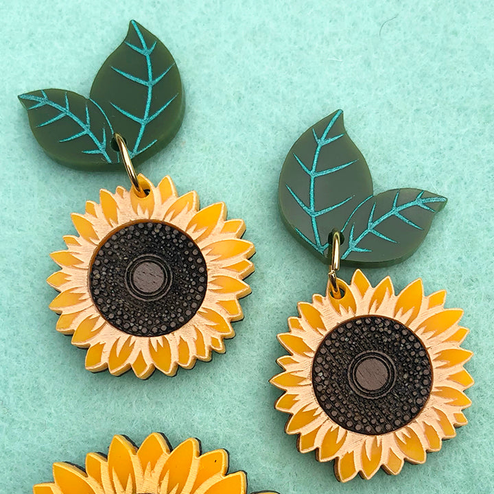 SUNNY SUNFLOWERS EARRINGS