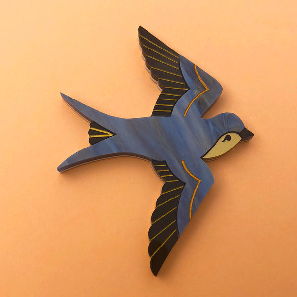 SWOONING CINDY SWALLOW BROOCH