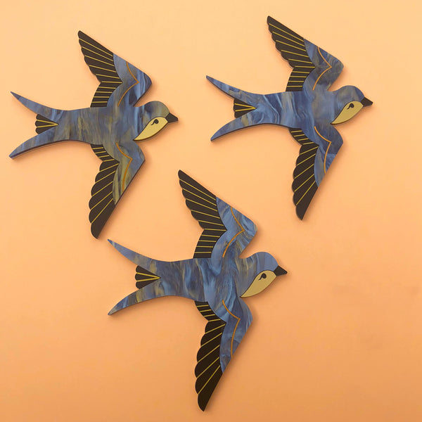 SWOONING SWALLOWS WALL ART