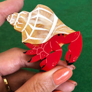 HERMIT CRAB HERB BROOCH