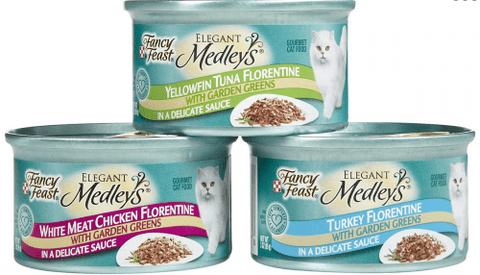 Fancy Feast,Fancy Feast Elegant Florentine Variety Pack Canned Cat Food