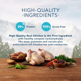 Blue Buffalo,Blue Buffalo Wilderness Grain Free High Protein Chicken Recipe Adult Large Breed Dry Dog Food