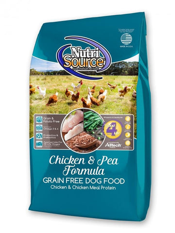 NutriSource,NutriSource Grain Free Chicken & Pea Dry Dog Food
