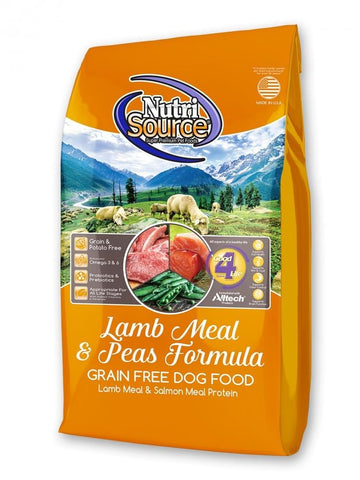 NutriSource,NutriSource Lamb Meal and Peas Formula Grain Free Dry Dog Food