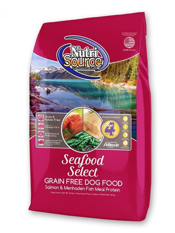 NutriSource,NutriSource Grain Free Seafood Select with Salmon Dry Dog Food