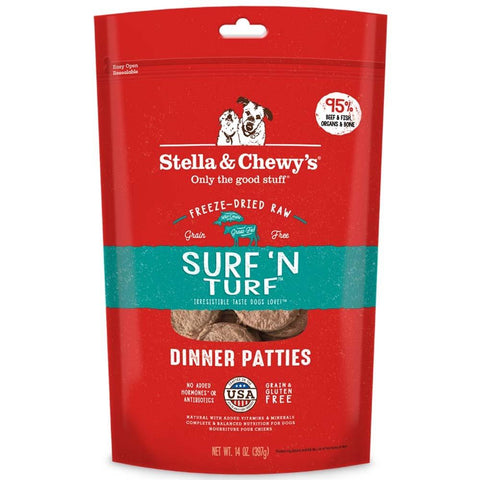 Stella & Chewy's Surf 'N Turf Grain Free Dinner Patties Freeze Dried Raw Dog Food