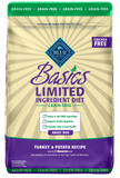 Blue Buffalo,Blue Buffalo Basics Grain Free Adult Turkey and Potato Dry Dog Food