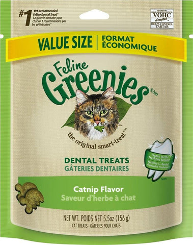 Greenies,Greenies Feline Dental Catnip Flavor Cat Treats
