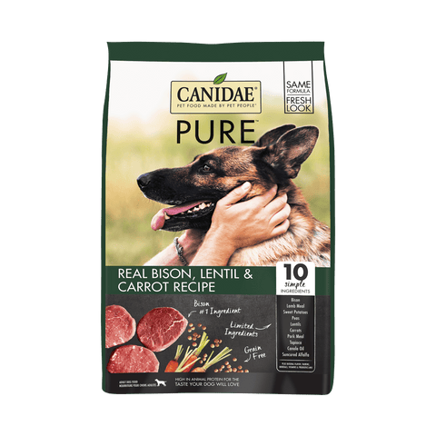 Canidae,Canidae Grain Free PURE Bison, Lentil & Carrot Recipe Dry Dog Food