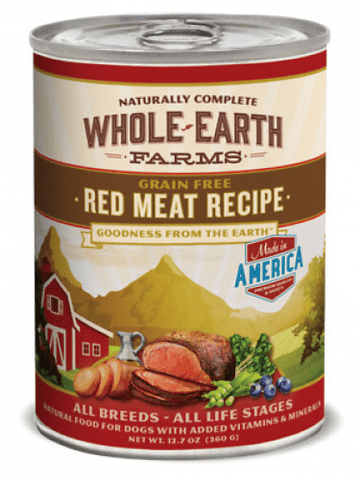 Whole Earth Farms,Whole Earth Farms Grain Free Red Meat Canned Dog Food