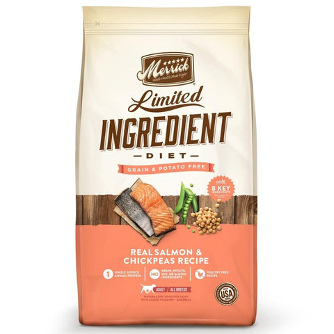 Merrick,Merrick Limited Ingredient Diet Grain Free Real Salmon & Chickpeas Recipe Dry Dog Food