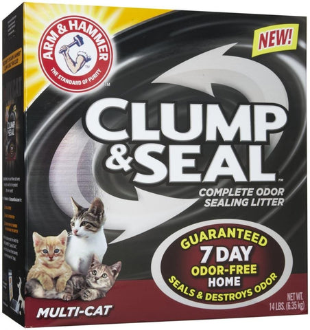 Arm & Hammer,Arm & Hammer Multi-Cat Clump and Seal Complete Odor Sealing Cat Litter