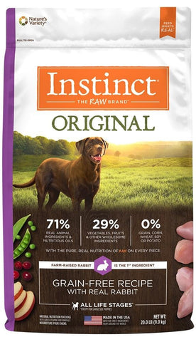 Nature's Variety,Nature's Variety Instinct Original Grain Free Recipe with Real Rabbit Natural Dry Dog Food