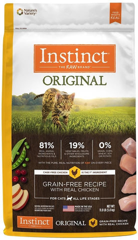 Nature's Variety,Nature's Variety Instinct Original Grain Free Recipe with Real Chicken Natural Dry Cat Food