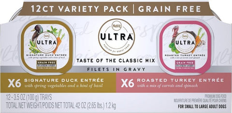 Nutro,Nutro Ultra Grain Free Savory Assortment Variety Pack Filets in Gravy Wet Dog Food