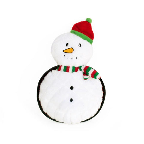 ZippyPaws Z-Stitch Grunterz Holiday Snowman Plush Dog Toy