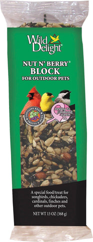 D&d Commodities Ltd. Bird-Wild Bird Food 13 OUNCE D&d Commodities Ltd. - Wild Delight Nut N' Berry Block