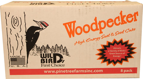 Pine Tree Farms Inc Bird-Wild Bird Food 8 PACK Pine Tree Farms Inc - Woodpecker Suet 8 Cake Value Pack