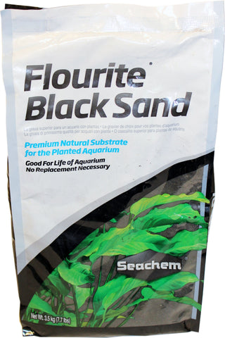 Seachem Laboratories Inc Fish-Accessories BLACK / 7.7 LB Seachem Laboratories Inc - Flourite Sand (Case of 2 )